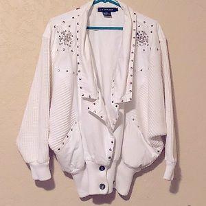 🔥I.B. DIFFUSION 100%C Vint 80'sEmbellished Jacket